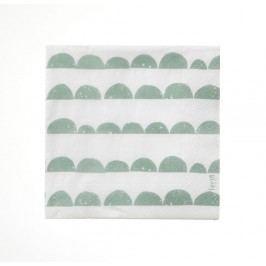 Papírové ubrousky Half Moon - mint, zelená barva, papír