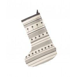 Vánoční punčocha Winterland Christmas Grey, šedá barva, textil