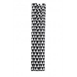 Koupelnový závěs Triangle 160x200, černá barva, textil