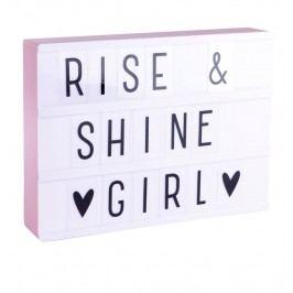 Svítící box s nápisy Lightbox Pink A4, růžová barva, plast