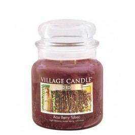 Svíčka ve skle Acai Berry Tabac - střední, hnědá barva, sklo