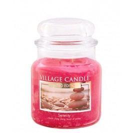 Svíčka ve skle Serenity - střední, růžová barva, sklo