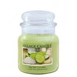 Svíčka ve skle Sea Salt Cucumber - střední, zelená barva, sklo