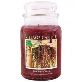 Svíčka ve skle Acai Berry Tabac - velká, hnědá barva, sklo