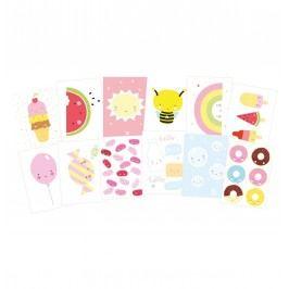 Pohlednice Cute Kawaii - set 12 ks, růžová barva, multi barva, papír