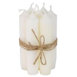Svíčka bílá - set 6 ks, bílá barva