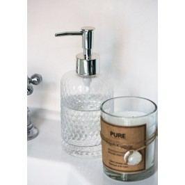 Zásobník na mýdlo Clear glass, čirá barva, sklo, plast