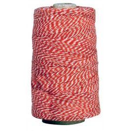 Dekorativní provázek Red/white 10m, červená barva, bílá barva, textil