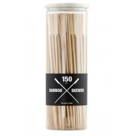 Bambusové jehly Skewer 150 ks, hnědá barva, dřevo
