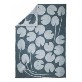 Vlněná deka Water lilies Green 130x190 cm, zelená barva, textil