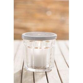 Kovové víčko Jam Glass 10 cm, bílá barva, kov