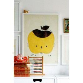 Plakát Apple Papple 50x70 cm, žlutá barva, papír