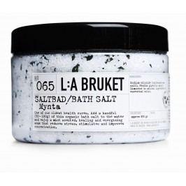 L:A BRUKET Mořská koupelová sůl s mátou 450 gr, bílá barva, plast