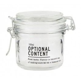 Skleněná dóza Optional Content 125 ml, čirá barva, sklo