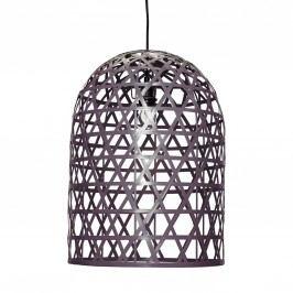 Bambusová lampa Oblong Grey, šedá barva, proutí