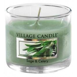 Mini svíčka Village Candle - Sage and Celery, zelená barva, sklo