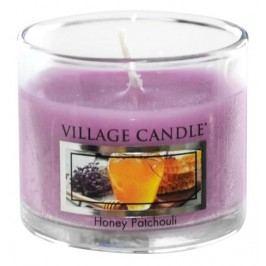 Mini svíčka Village Candle - Honey Patchouli, fialová barva, sklo