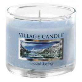Mini svíčka Village Candle - Glacial Spring, modrá barva, sklo