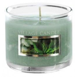 Mini svíčka Village Candle - Eucalyptus Mint, zelená barva, sklo