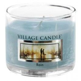 Mini svíčka Village Candle - Rain, modrá barva, sklo