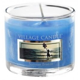 Mini svíčka Village Candle - Summer Breeze, modrá barva, sklo