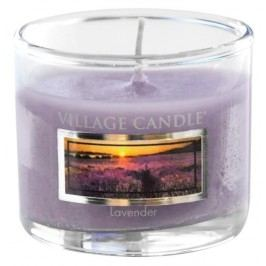 Mini svíčka Village Candle - Lavender, fialová barva, sklo