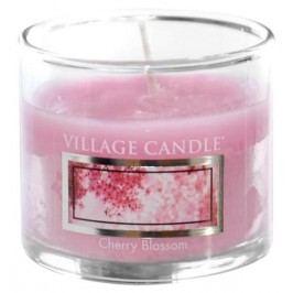 Mini svíčka Village Candle - Cherry Blossom, růžová barva, sklo