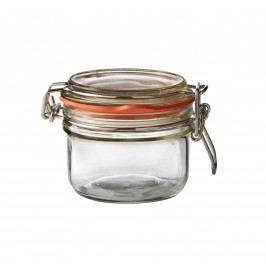 Kulatá zavařovací sklenice s klipem 125 ml, čirá barva, sklo