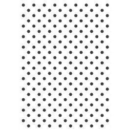 TAFELGUT Balicí papír Black Flower Pattern - 2 listy, černá barva, bílá barva, papír