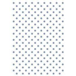 TAFELGUT Balicí papír Blue Flower Pattern - 2 listy, modrá barva, bílá barva, papír