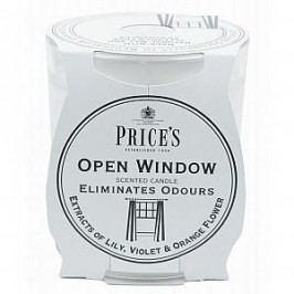 PRICE'S Vonná svíčka ve skle Open window, bílá barva, sklo