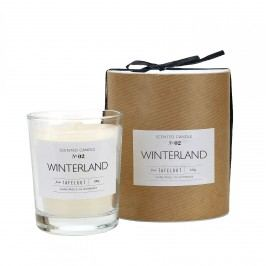 TAFELGUT Vonná svíčka Winterland - 180 g, bílá barva, vosk