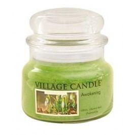 Svíčka ve skle Awakening - malá, zelená barva, sklo