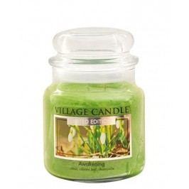 Svíčka ve skle Awakening - střední, zelená barva, sklo