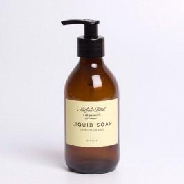 Univerzální tekuté mýdlo Lemongrass 250 ml, žlutá barva, hnědá barva, sklo, papír