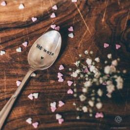 Postříbřená čajová lžička Jsi moje srdce, stříbrná barva, kov