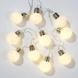 Světelný LED řetěz Festoon - 1,5 m, bílá barva, sklo, kov