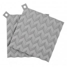 Silikonové chňapky Light grey - 2 ks, šedá barva, plast