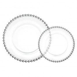 Skleněný talíř Pearl 27 cm, čirá barva, sklo