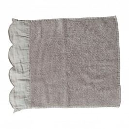 Froté ručník Fris Gris 55x90 cm, béžová barva, šedá barva, textil