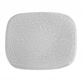 Keramická mýdlenka Grey Lace, šedá barva, keramika
