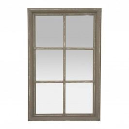 Zrcadlo Parc gris 106x67, šedá barva, sklo, dřevo