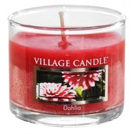 Mini svíčka Village Candle - Dahlia, červená barva