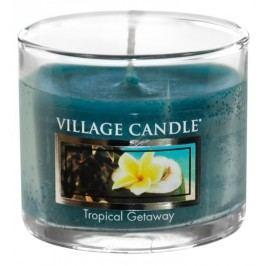 Mini svíčka Village Candle - Tropical Getaway, modrá barva, vosk