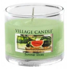 Mini svíčka Village Candle - Summer Slice, zelená barva, vosk
