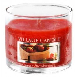 Mini svíčka Village Candle - Fresh Strawberries, červená barva, vosk