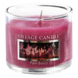 Mini svíčka Village Candle - Palm Beach, fialová barva, vosk