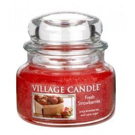Svíčka ve skle Fresh Strawberries - malá, červená barva, sklo