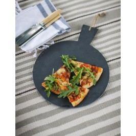 Garden Trading Servírovací prkénko na pizzu 30cm, černá barva, kámen