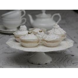 Dortový stojan Provence, krémová barva, porcelán